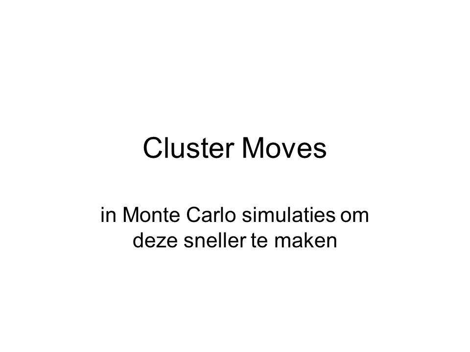 Cluster Moves in Monte Carlo simulaties om deze sneller te maken