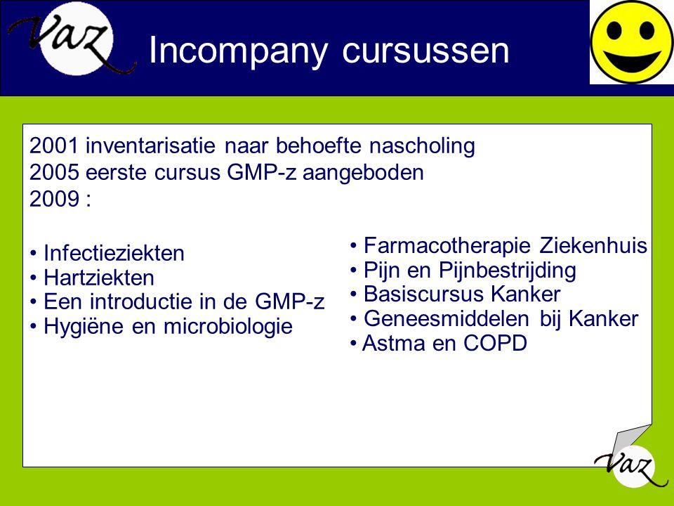 2001 inventarisatie naar behoefte nascholing 2005 eerste cursus GMP-z aangeboden 2009 : Infectieziekten Hartziekten Een introductie in de GMP-z Hygiën