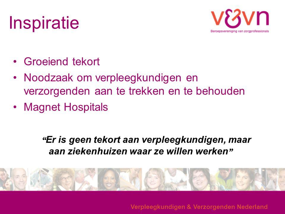 Inspiratie Verpleegkundigen & Verzorgenden Nederland Groeiend tekort Noodzaak om verpleegkundigen en verzorgenden aan te trekken en te behouden Magnet
