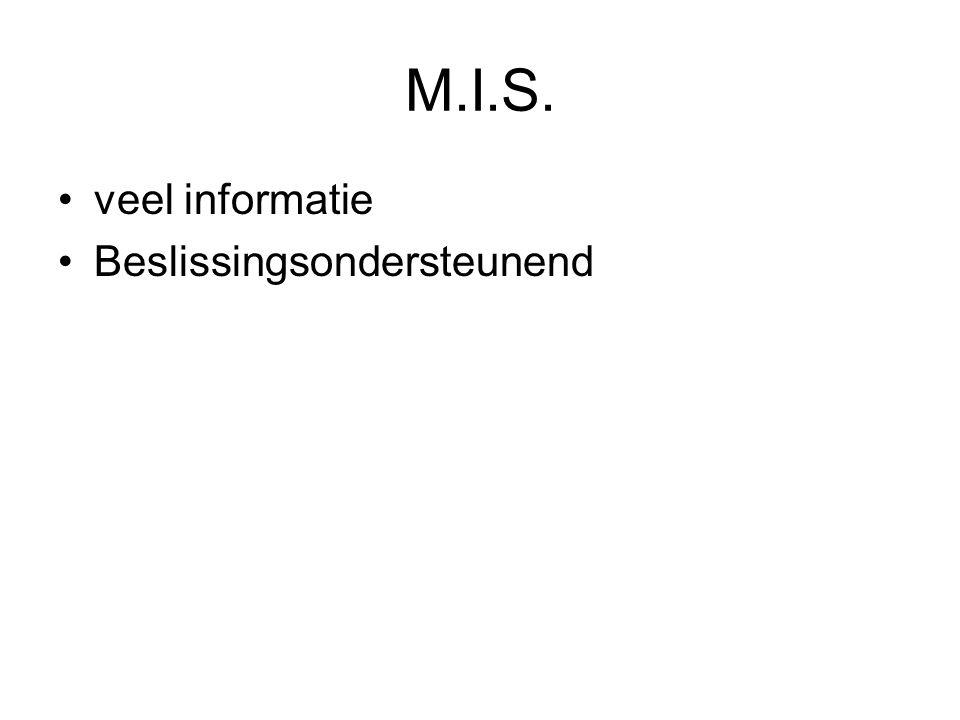 M.I.S. veel informatie Beslissingsondersteunend