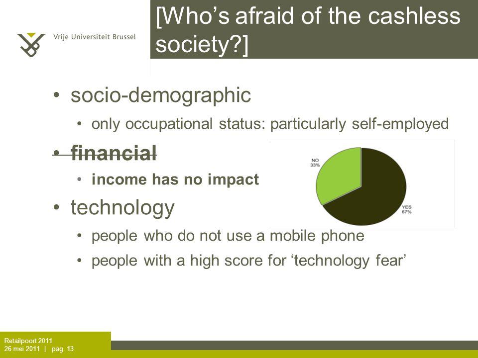 I. voor- en nadelen omzetverlies. consument wil cash betalen.