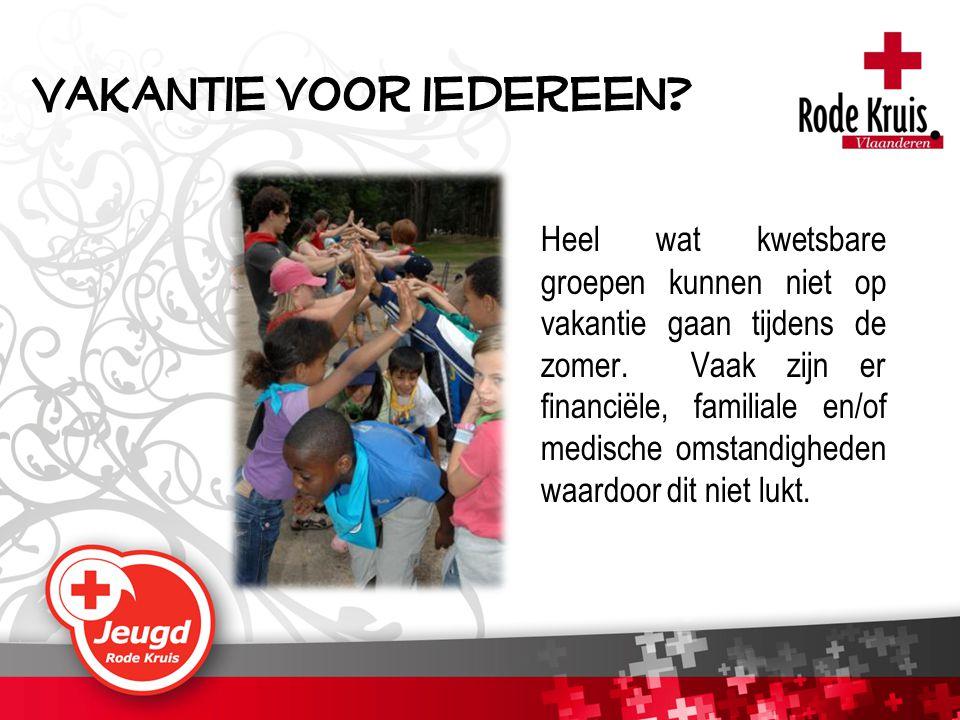 Daarom organiseert (Jeugd) Rode Kruis-Vlaanderen vakanties en kampen voor drie verschillende doelgroepen.