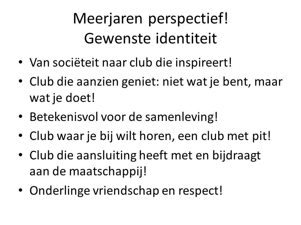 Meerjaren perspectief. Gewenste identiteit Van sociëteit naar club die inspireert.