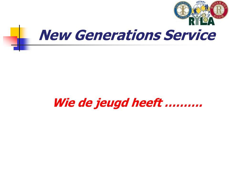 New Generations Service Wie de jeugd heeft ……….