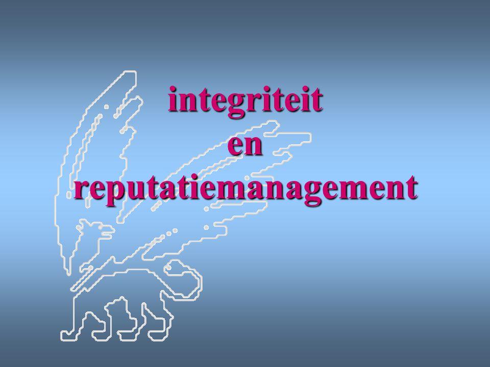 integriteit en reputatiemanagement