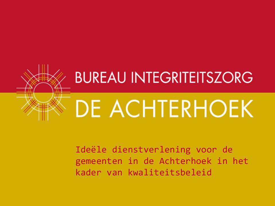 Ideële dienstverlening voor de gemeenten in de Achterhoek in het kader van kwaliteitsbeleid