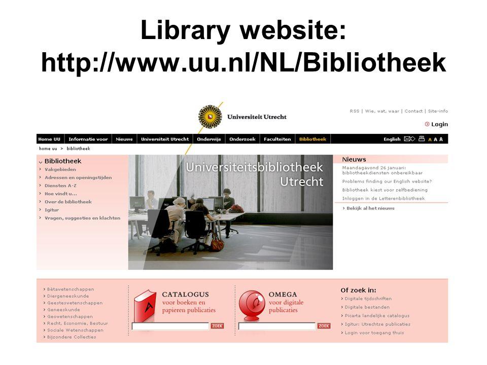 Library website: http://www.uu.nl/NL/Bibliotheek