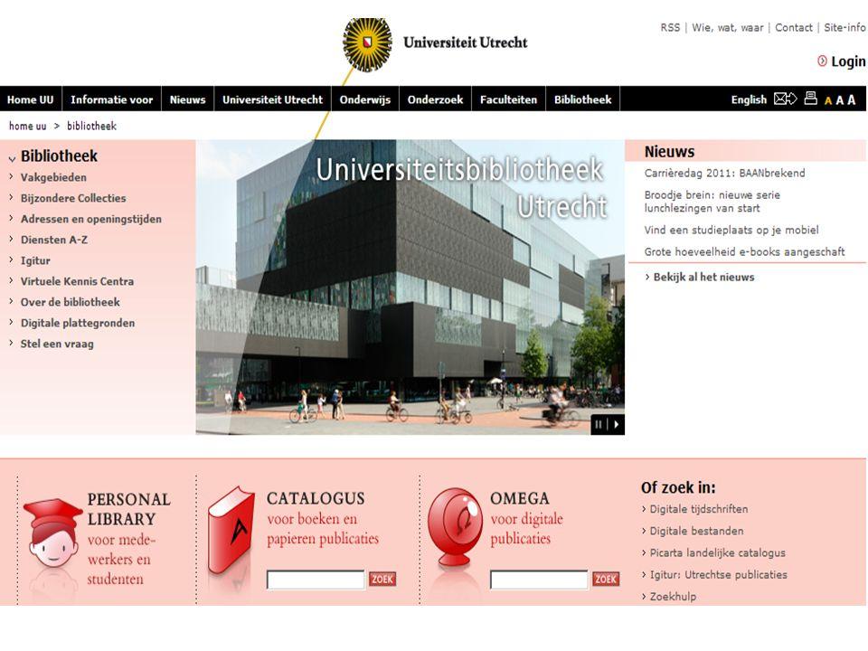 ALTIJD en OVERAL naar de bibliotheek www.uu.nl/Bibliotheekwww.uu.nl/Bibliotheek = UniversiteitsBibliotheek (UBU) Thuis toegang: inloggen met Solis-ID en wachtwoord bij openen van betaalde bestanden