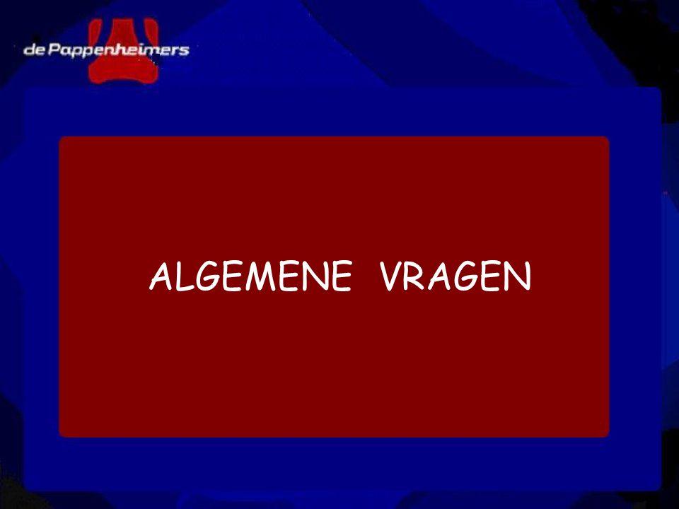 ALGEMENE VRAGEN