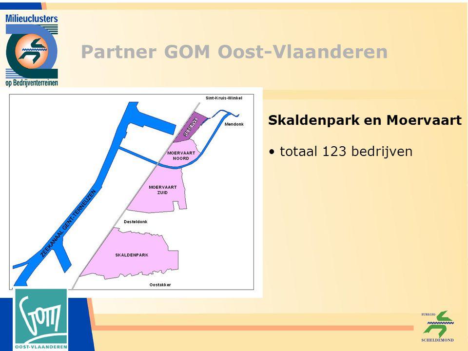 Partner GOM Oost-Vlaanderen Skaldenpark en Moervaart totaal 123 bedrijven