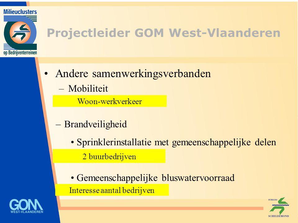 Andere samenwerkingsverbanden –Mobiliteit Woon-werkverkeer – Brandveiligheid Sprinklerinstallatie met gemeenschappelijke delen Gemeenschappelijke blus