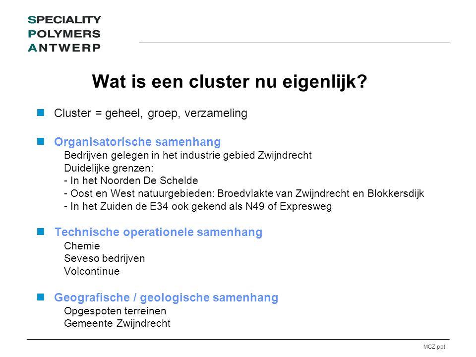 MCZ.ppt Wat is een cluster nu eigenlijk.