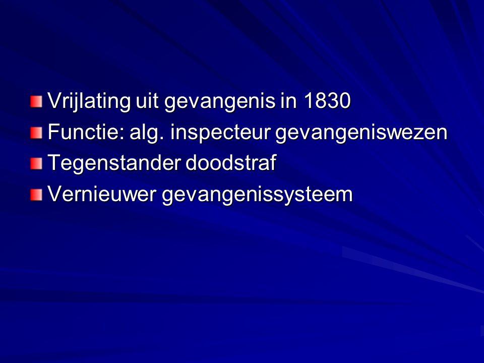 Vrijlating uit gevangenis in 1830 Functie: alg.