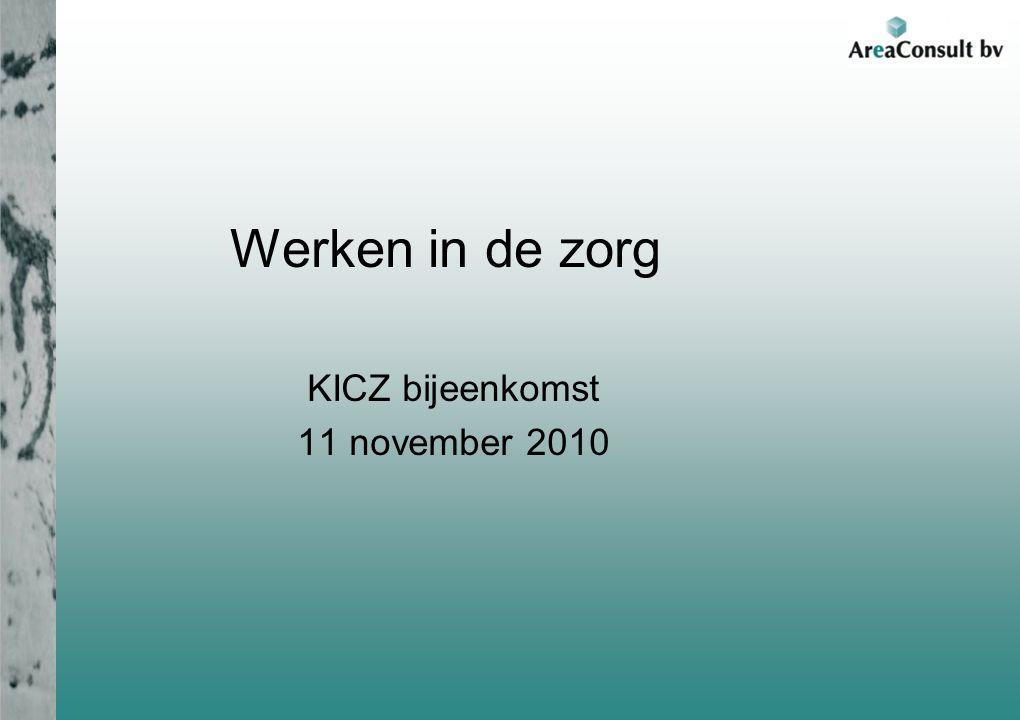 Werken in de zorg KICZ bijeenkomst 11 november 2010