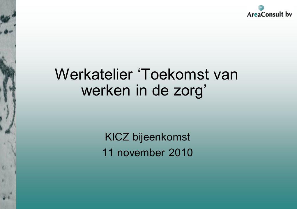 Werkatelier 'Toekomst van werken in de zorg' KICZ bijeenkomst 11 november 2010