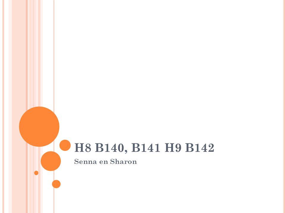 H8 B140, B141 H9 B142 Senna en Sharon