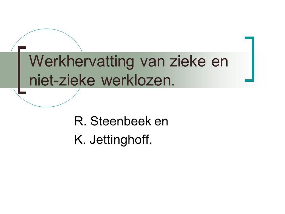 Werkhervatting van zieke en niet-zieke werklozen. R. Steenbeek en K. Jettinghoff.