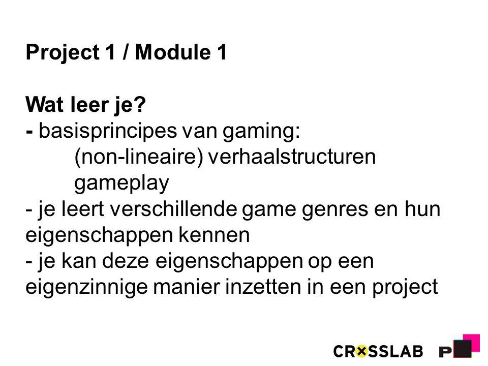 Project 1 / Module 1 Wat leer je.