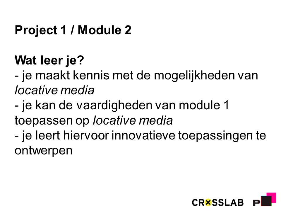 Project 1 / Module 2 Wat leer je.