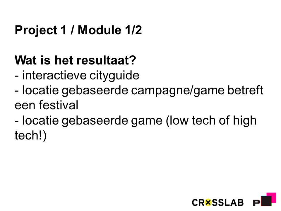 Project 1 / Module 1/2 Wat is het resultaat.