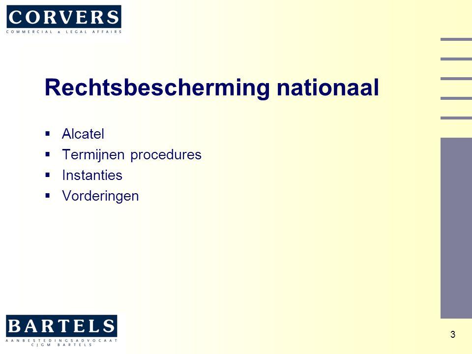 3 Rechtsbescherming nationaal  Alcatel  Termijnen procedures  Instanties  Vorderingen