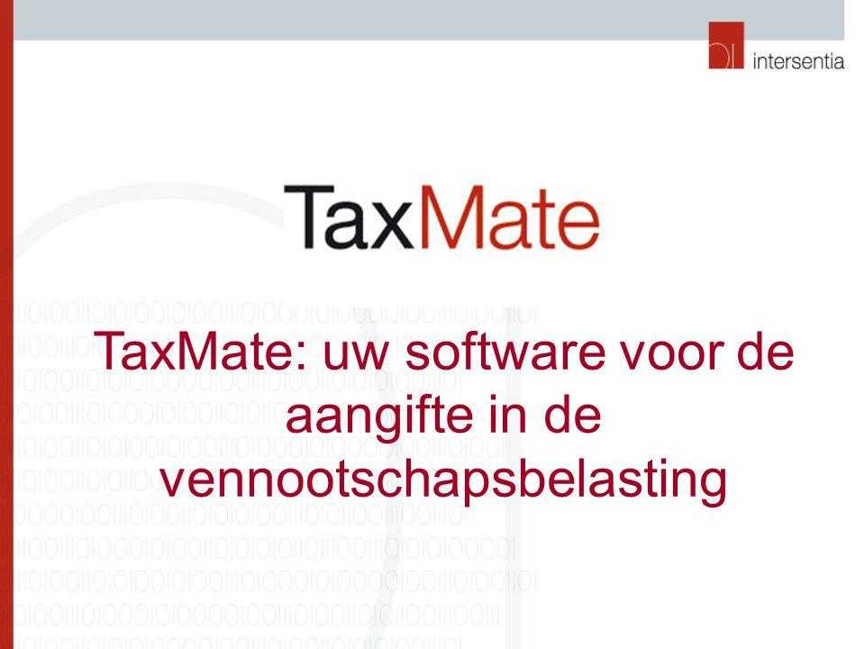 Importeren Biztax-bestand U kunt Biztax-bestanden eenvoudig in TaxMate importeren.