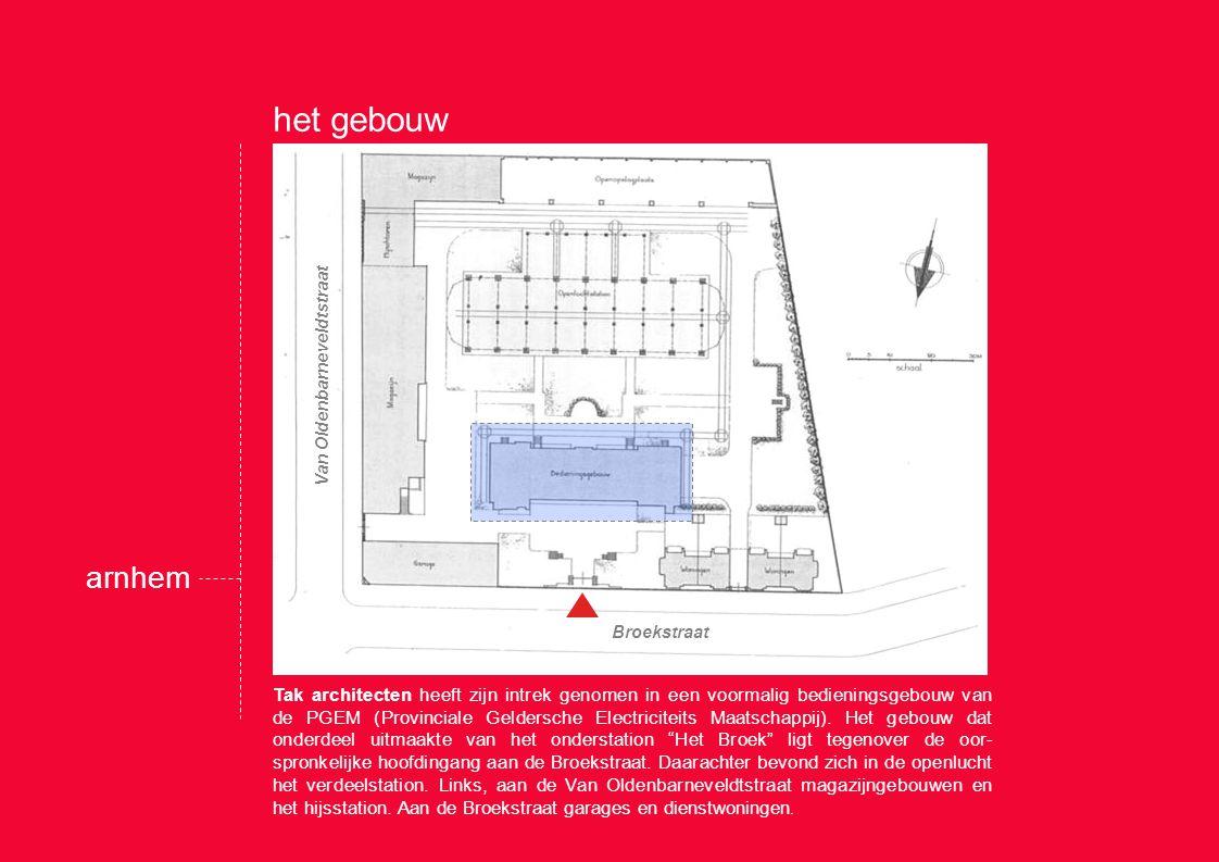Tak architecten heeft zijn intrek genomen in een voormalig bedieningsgebouw van de PGEM (Provinciale Geldersche Electriciteits Maatschappij).