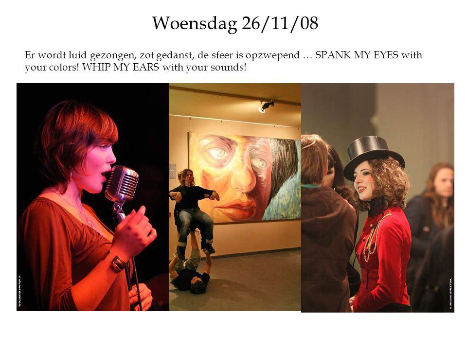 Donderdag 27/11/08 Plezierig immorele en niet te vatten fresco s, gewemel van muzikanten en feestelijk geroezemoes alom …