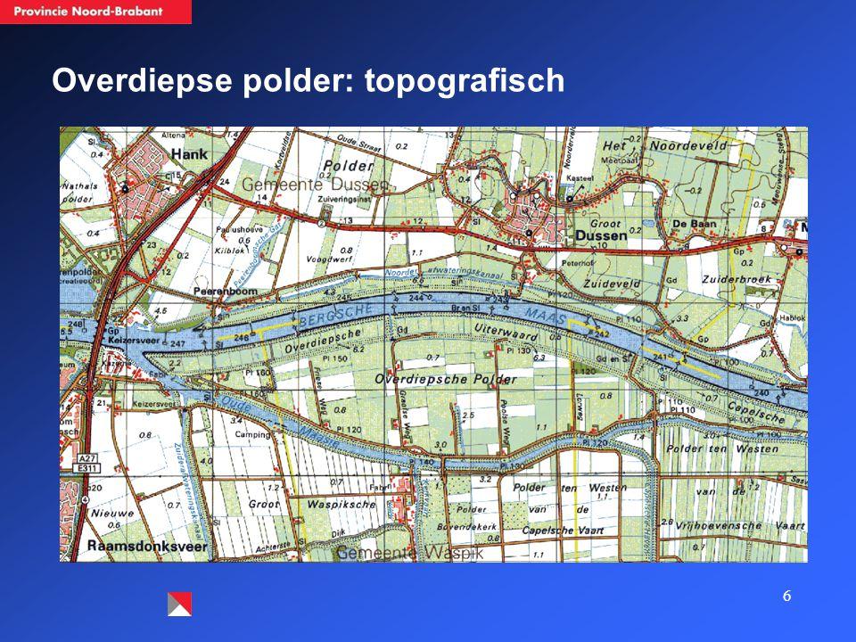 6 Overdiepse polder: topografisch