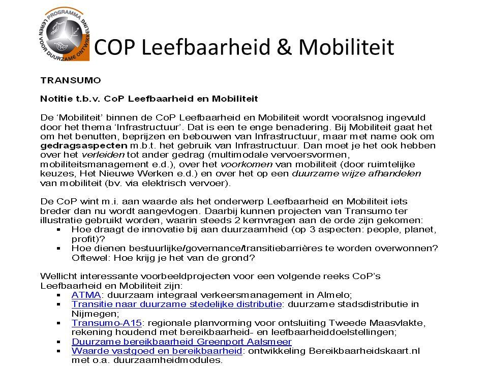 COP Leefbaarheid & Mobiliteit