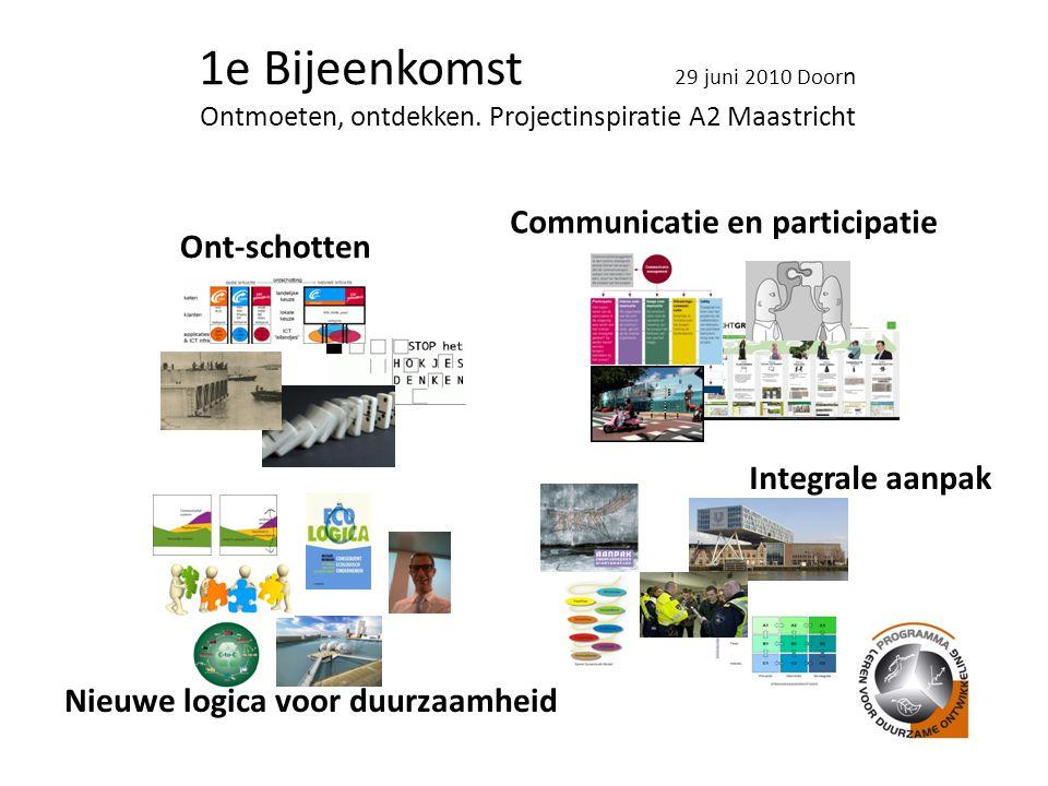 1e Bijeenkomst 29 juni 2010 Door n Ontmoeten, ontdekken.