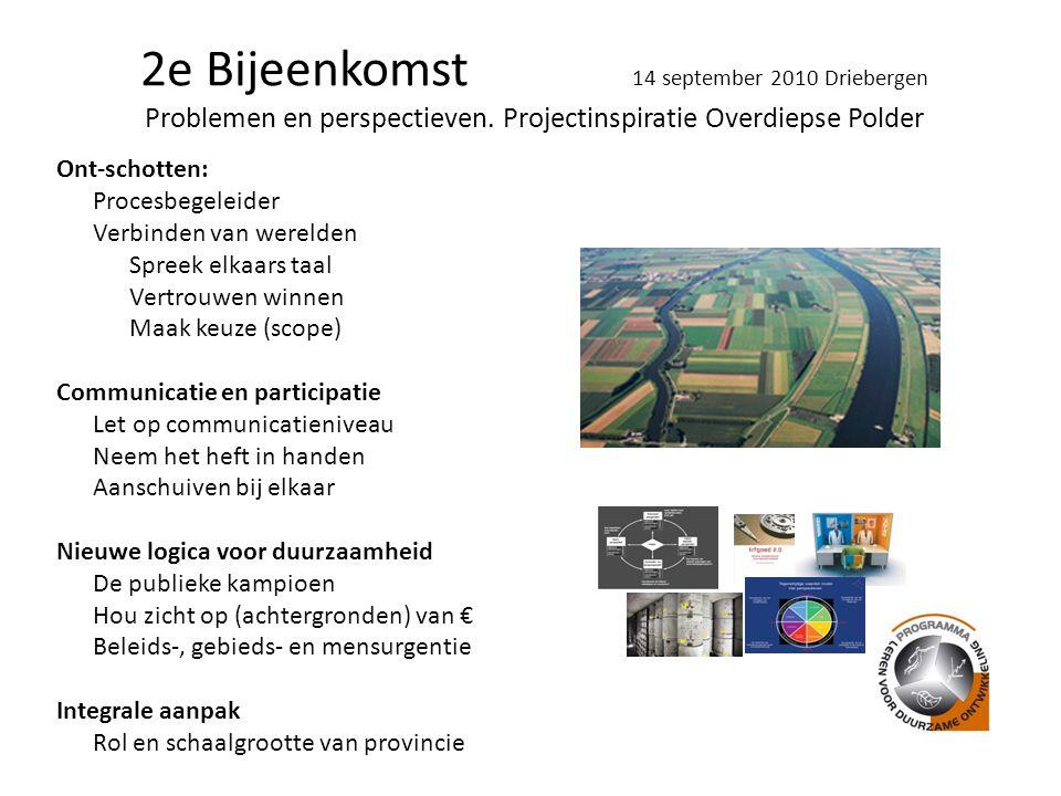 2e Bijeenkomst 14 september 2010 Driebergen Problemen en perspectieven.