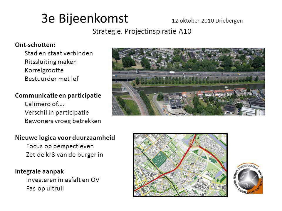 3e Bijeenkomst 12 oktober 2010 Driebergen Strategie.