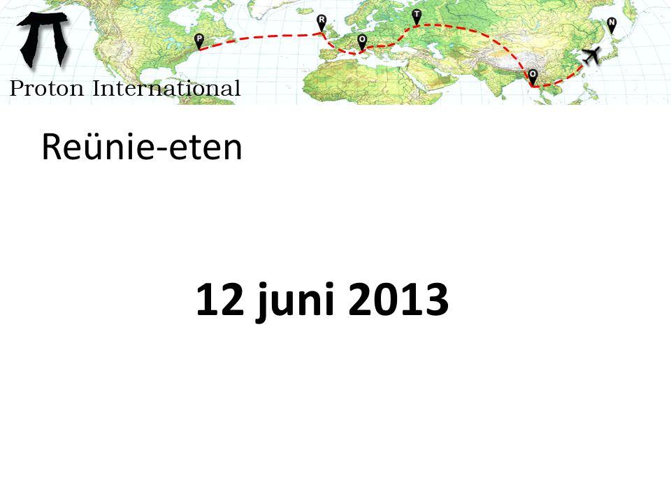 Reünie-eten 12 juni 2013