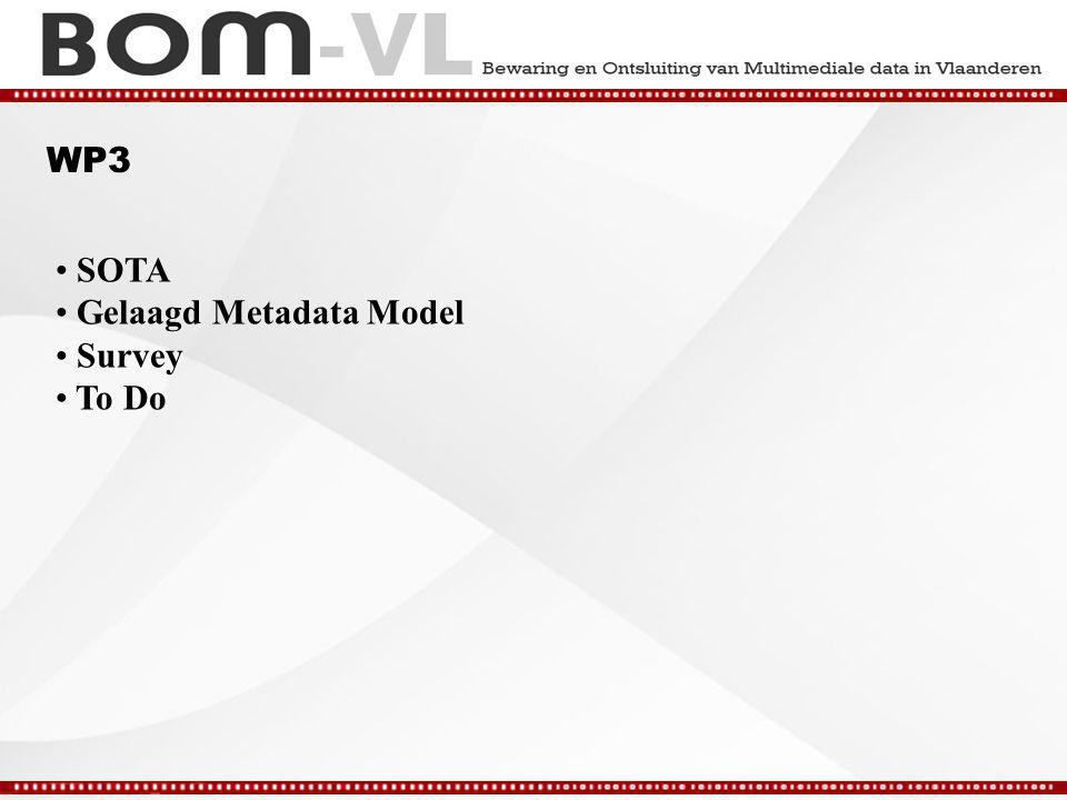 WP3 SOTA Gelaagd Metadata Model Survey To Do