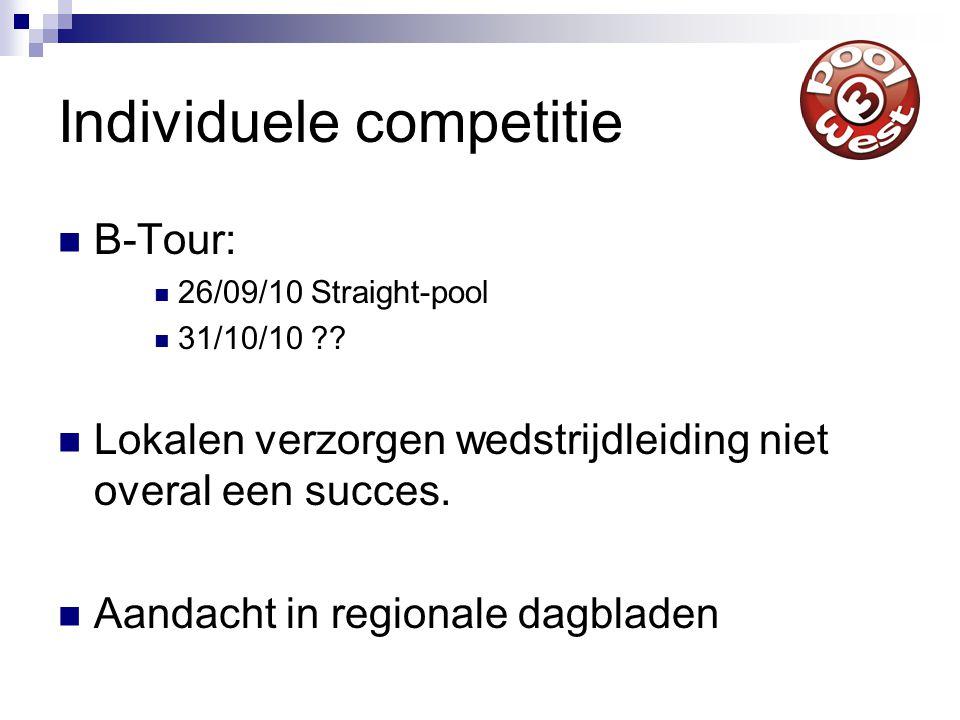 Ray  MVP wijziging in Kompsos  Oproep medewerking aan werkgroepen Pooldistrict West 3  Toelichting veranderde punten-/bonussysteem KNBB