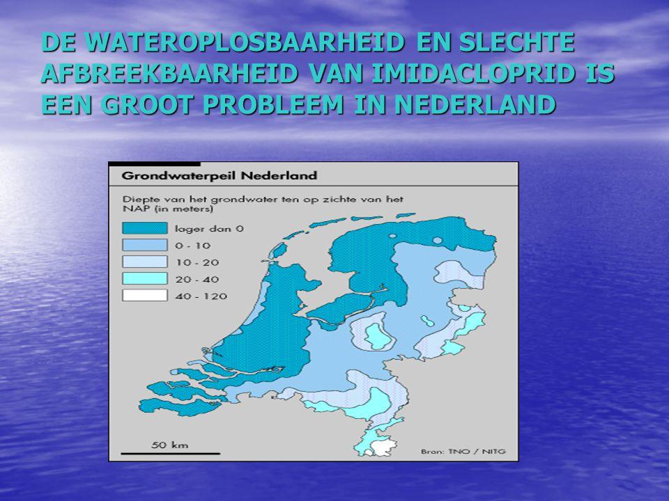 DE WATEROPLOSBAARHEID EN SLECHTE AFBREEKBAARHEID VAN IMIDACLOPRID IS EEN GROOT PROBLEEM IN NEDERLAND
