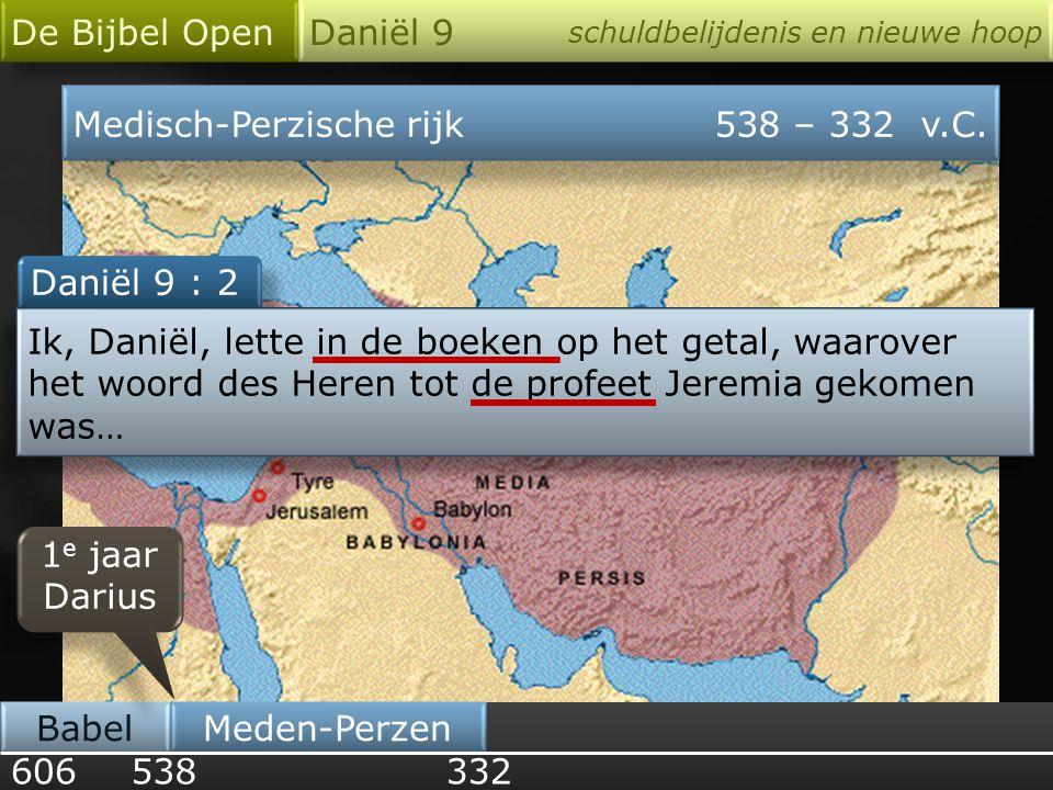 1 1 62 70 weken = 490 jaren opbouw van Jeruzalem Nehemia periode tussen O.T.