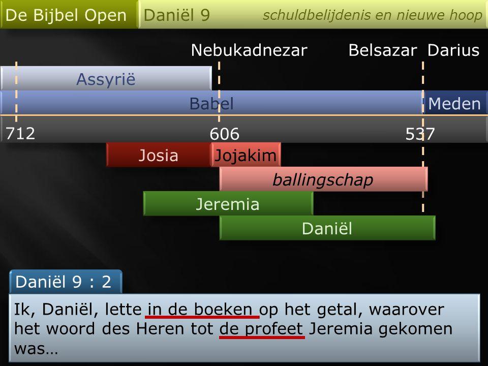 Nebukadnezar Assyrië Babel De Bijbel Open Daniël 9 schuldbelijdenis en nieuwe hoop Meden 712 606537 Josia BelsazarDarius Jojakim ballingschap Jeremia Daniël Wie is profeet.