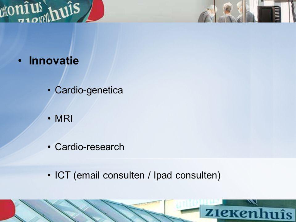 Innovatie Cardio-genetica MRI Cardio-research ICT (email consulten / Ipad consulten)
