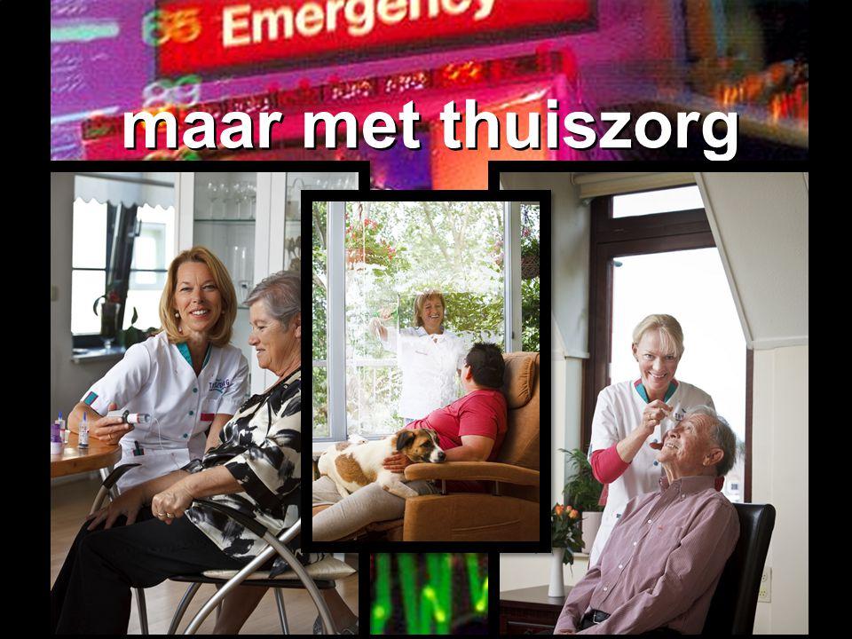 De Missie Het organiseren en leveren van betrokken en kwalitatief hoogwaardige zorg thuis en in het ziekenhuis