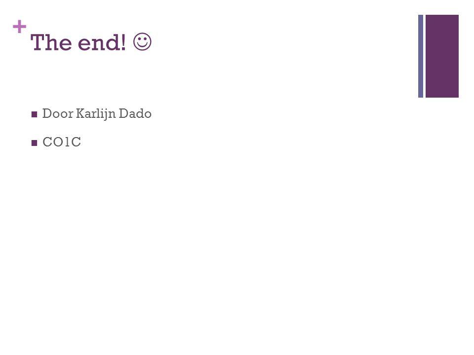 + The end! Door Karlijn Dado CO1C