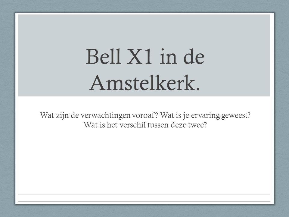 Bell X1 in de Amstelkerk. Wat zijn de verwachtingen voroaf.