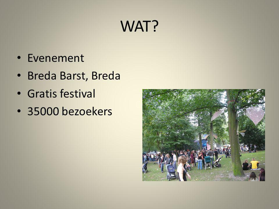 WAT? Evenement Breda Barst, Breda Gratis festival 35000 bezoekers
