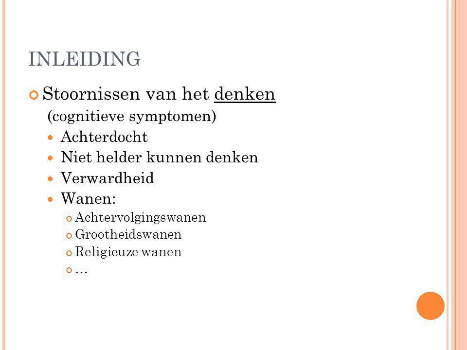 TOELICHTING THESIS Duodecim-richtlijn (Finland) omgezet naar Belgische normen www.ebmpracticenet.be Aanbevelingen Medicatie acute psychose Niet-medicamenteuze maatregelen Medicatie opvolgingsfase Follow-up