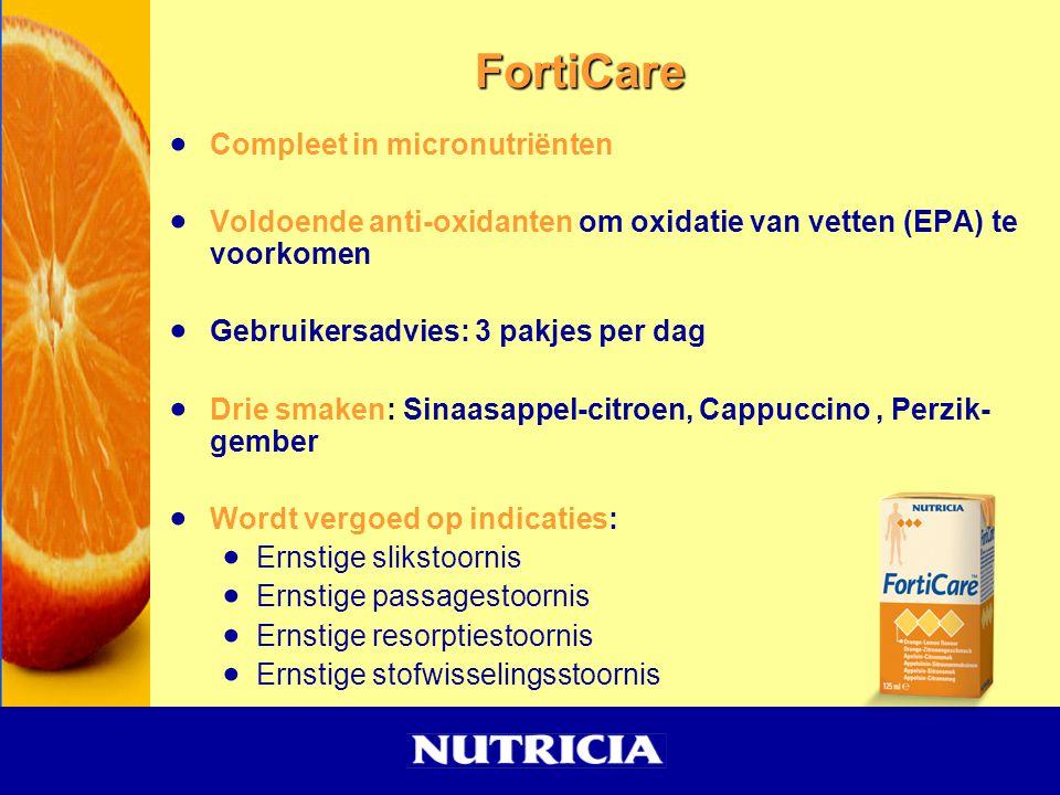  Compleet in micronutriënten  Voldoende anti-oxidanten om oxidatie van vetten (EPA) te voorkomen  Gebruikersadvies: 3 pakjes per dag  Drie smaken: