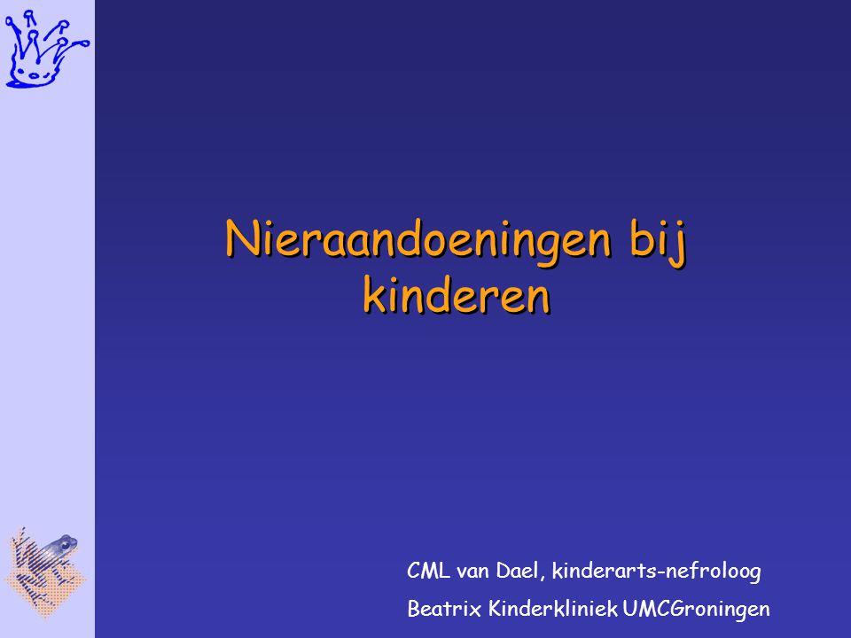 Nieraandoeningen bij kinderen CML van Dael, kinderarts-nefroloog Beatrix Kinderkliniek UMCGroningen