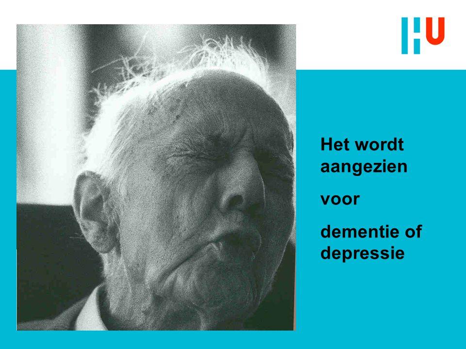 Het wordt aangezien voor dementie of depressie