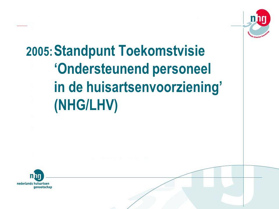 2005: Standpunt Toekomstvisie 'Ondersteunend personeel in de huisartsenvoorziening' (NHG/LHV)