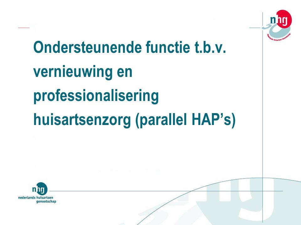 Ondersteunende functie t.b.v. vernieuwing en professionalisering huisartsenzorg (parallel HAP's)